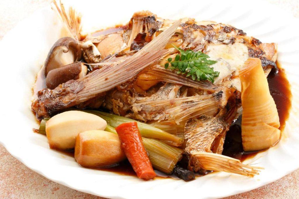 逸品料理 真鯛 かぶと煮
