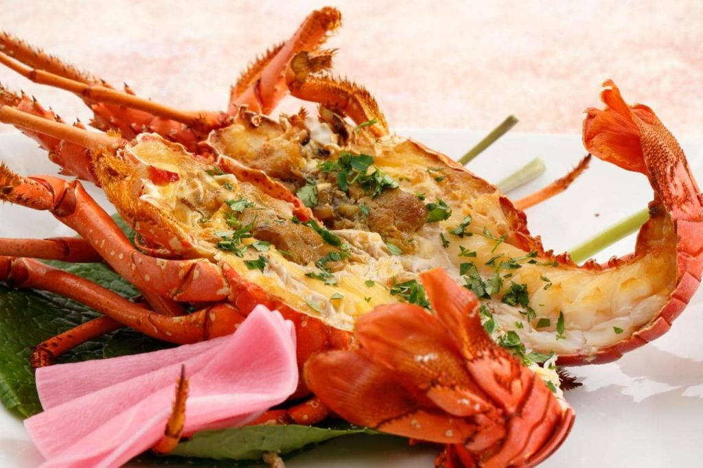 Roasted Japanese spiny lobster